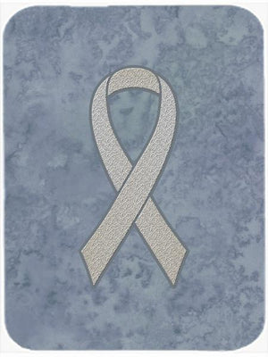 Clear Ribbon for Lung Cancer Awareness Glass Cutting Board Large Size AN1210LCB - the-store.com