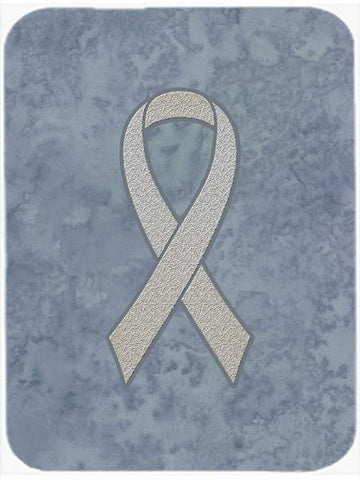 Buy this Clear Ribbon for Lung Cancer Awareness Glass Cutting Board Large Size AN1210LCB