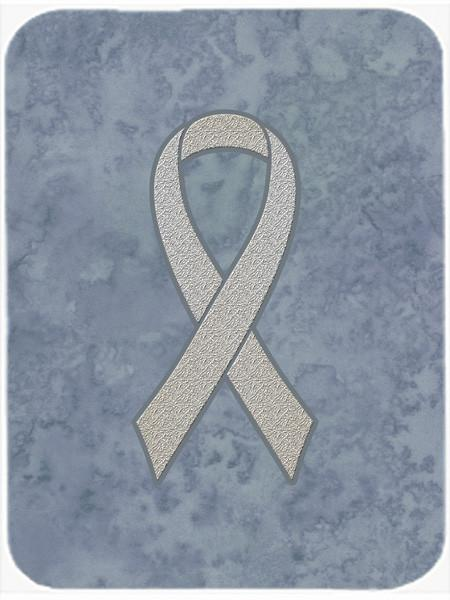 Clear Ribbon for Lung Cancer Awareness Mouse Pad, Hot Pad or Trivet AN1210MP - the-store.com