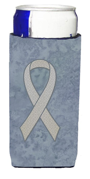 Clear Ribbon for Lung Cancer Awareness Ultra Beverage Insulators for slim cans AN1210MUK - the-store.com