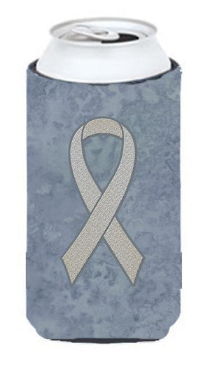 Clear Ribbon for Lung Cancer Awareness Tall Boy Beverage Insulator Hugger AN1210TBC - the-store.com