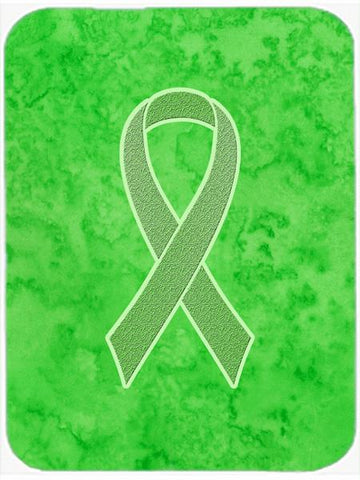 Buy this Lime Green Ribbon for Lymphoma Cancer Awareness Glass Cutting Board Large Size AN1212LCB