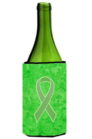 Buy this Lime Green Ribbon for Lymphoma Cancer Awareness Wine Bottle Beverage Insulator Hugger AN1212LITERK