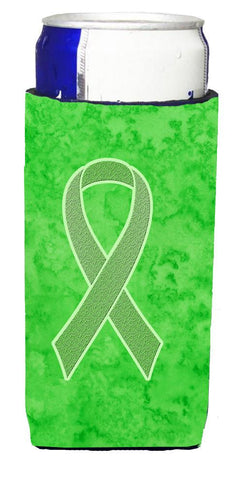 Buy this Lime Green Ribbon for Lymphoma Cancer Awareness Ultra Beverage Insulators for slim cans AN1212MUK