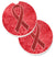 Red Ribbon for Aids Awareness Set of 2 Cup Holder Car Coasters AN1213CARC by Caroline's Treasures