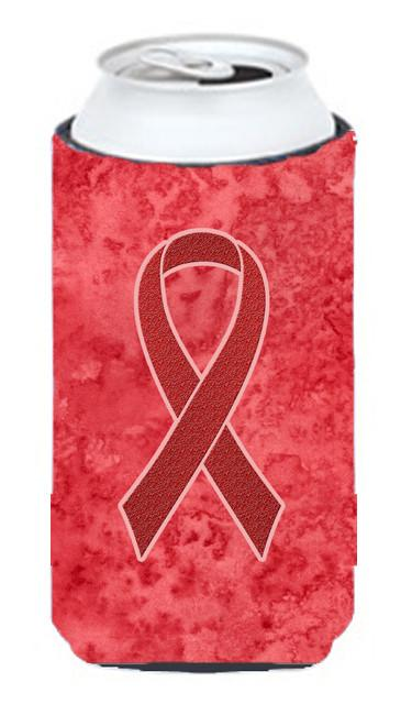 Red Ribbon for Aids Awareness Tall Boy Beverage Insulator Hugger AN1213TBC by Caroline's Treasures