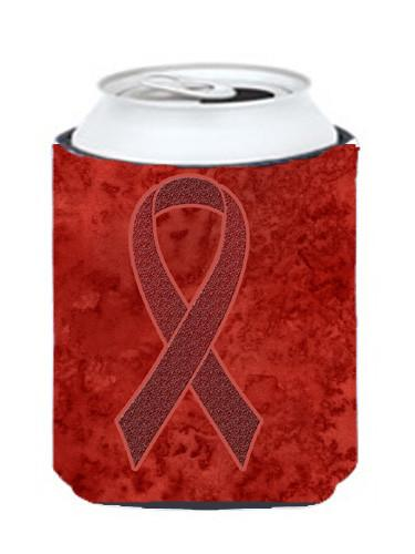 Buy this Burgundy Ribbon for Multiple Myeloma Cancer Awareness Can or Bottle Hugger AN1214CC