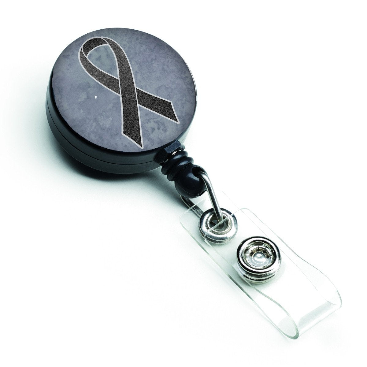 Buy this Black Ribbon for Melanoma Cancer Awareness Retractable Badge Reel AN1216BR