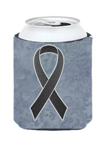 Black Ribbon for Melanoma Cancer Awareness Can or Bottle Hugger AN1216CC by Caroline's Treasures