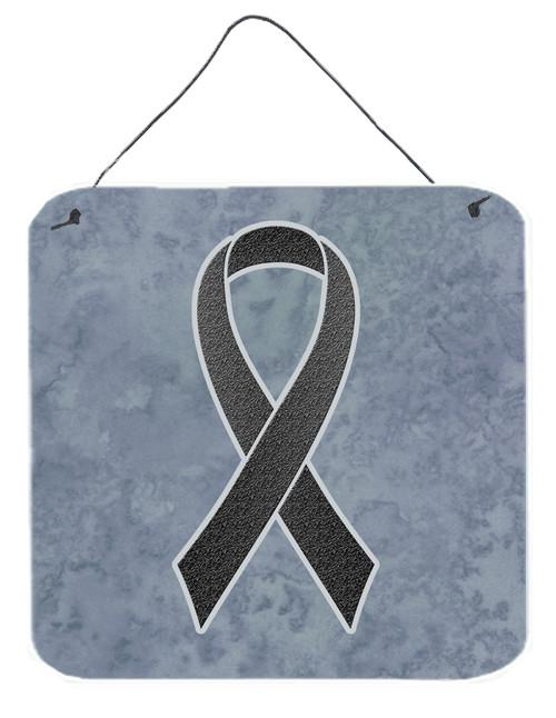 Black Ribbon for Melanoma Cancer Awareness Wall or Door Hanging Prints AN1216DS66 by Caroline's Treasures