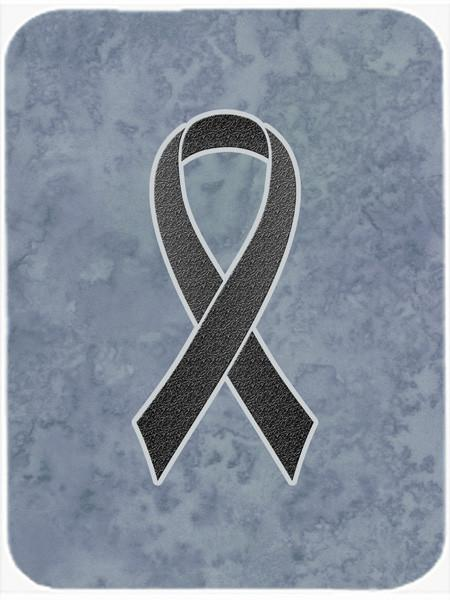 Black Ribbon for Melanoma Cancer Awareness Glass Cutting Board Large Size AN1216LCB - the-store.com