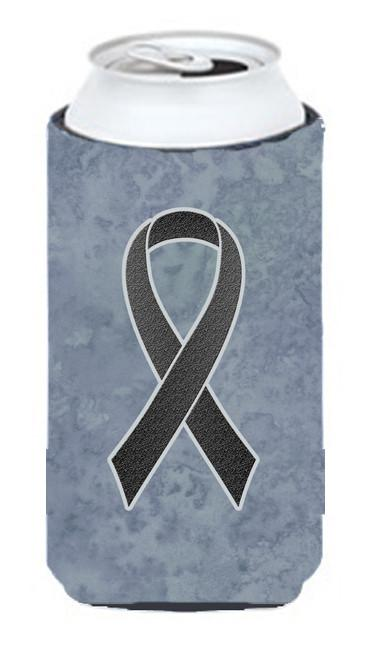 Black Ribbon for Melanoma Cancer Awareness Tall Boy Beverage Insulator Hugger AN1216TBC by Caroline's Treasures