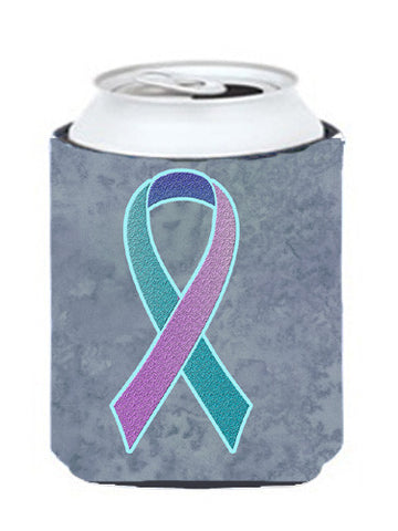 Buy this Teal, Pink and Blue Ribbon for Thyroid Cancer Awareness Can or Bottle Hugger AN1217CC