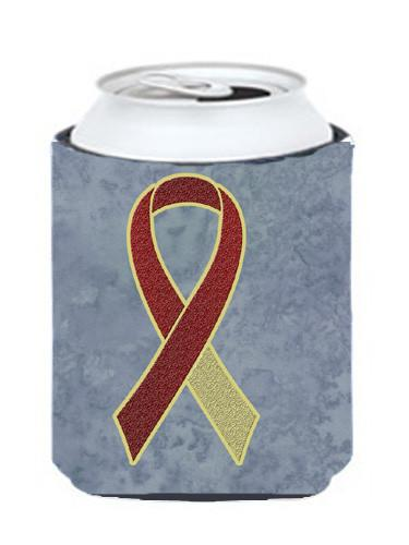 Burgundy and Ivory Ribbon for Head and Neck Cancer Awareness Can or Bottle Hugger AN1218CC by Caroline's Treasures