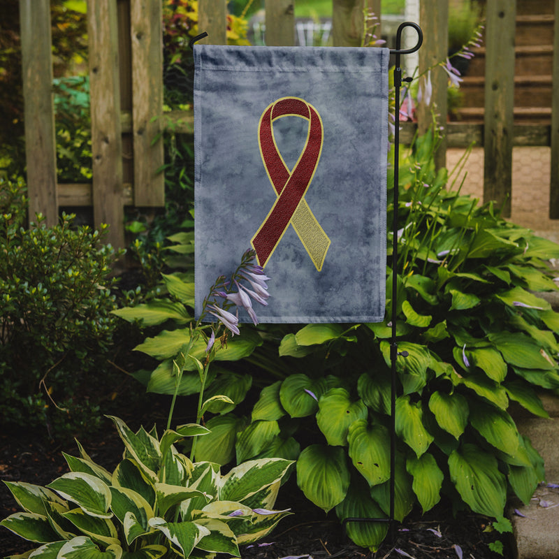 Buy this Burgundy and Ivory Ribbon for Head and Neck Cancer Awareness Flag Garden Size AN1218GF