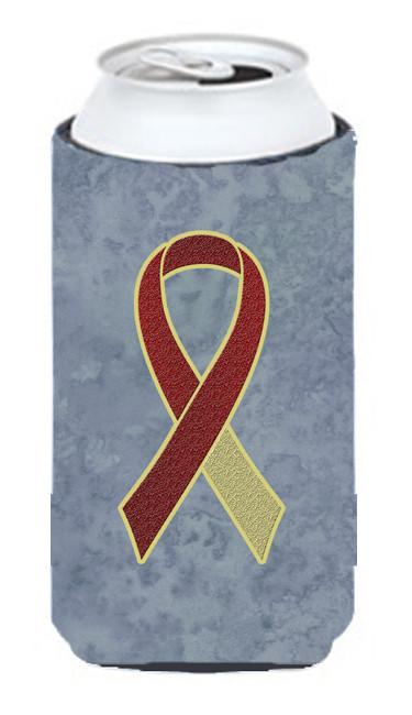 Burgundy and Ivory Ribbon for Head and Neck Cancer Awareness Tall Boy Beverage Insulator Hugger AN1218TBC by Caroline's Treasures