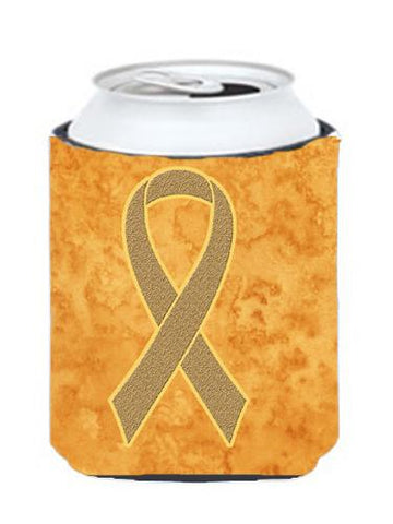 Buy this Peach Ribbon for Uterine Cancer Awareness Can or Bottle Hugger AN1219CC