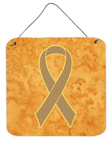 Buy this Peach Ribbon for Uterine Cancer Awareness Wall or Door Hanging Prints AN1219DS66