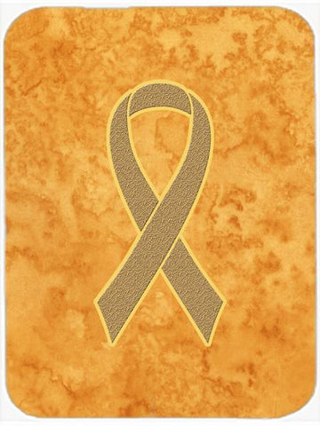 Buy this Peach Ribbon for Uterine Cancer Awareness Glass Cutting Board Large Size AN1219LCB