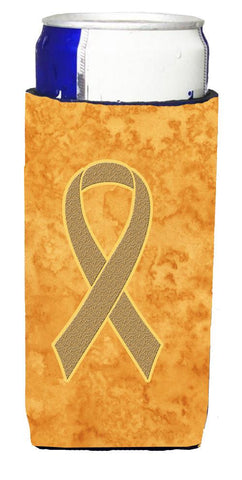 Buy this Peach Ribbon for Uterine Cancer Awareness Ultra Beverage Insulators for slim cans AN1219MUK