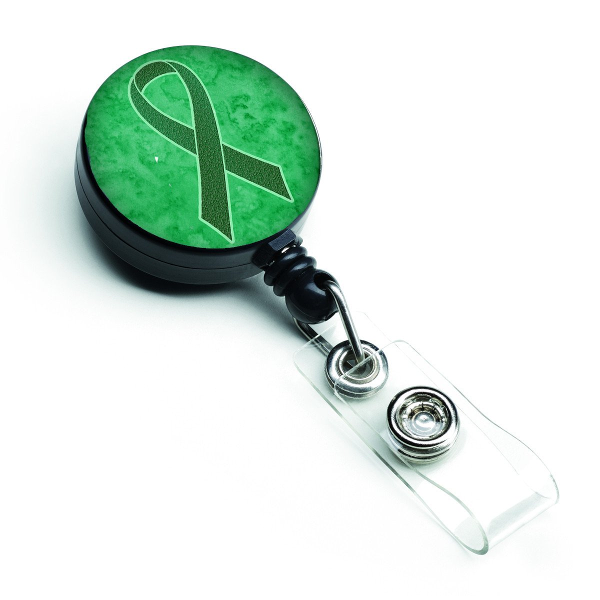 Kelly Green Ribbon for Kidney Cancer Awareness Retractable Badge Reel AN1220BR by Caroline's Treasures