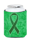 Kelly Green Ribbon for Kidney Cancer Awareness Can or Bottle Hugger AN1220CC by Caroline's Treasures