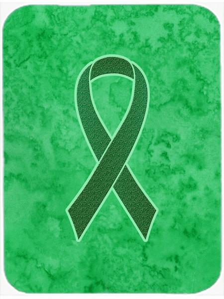 Buy this Kelly Green Ribbon for Kidney Cancer Awareness Mouse Pad, Hot Pad or Trivet AN1220MP