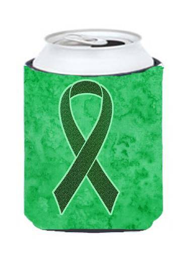 Emerald Green Ribbon for Liver Cancer Awareness Can or Bottle Hugger AN1221CC by Caroline's Treasures