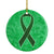 Buy this Emerald Green Ribbon for Liver Cancer Awareness Ceramic Ornament AN1221CO1