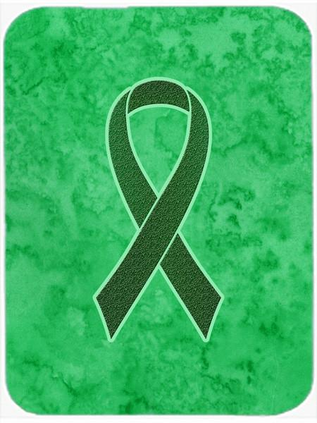 Emerald Green Ribbon for Liver Cancer Awareness Glass Cutting Board Large Size AN1221LCB by Caroline's Treasures