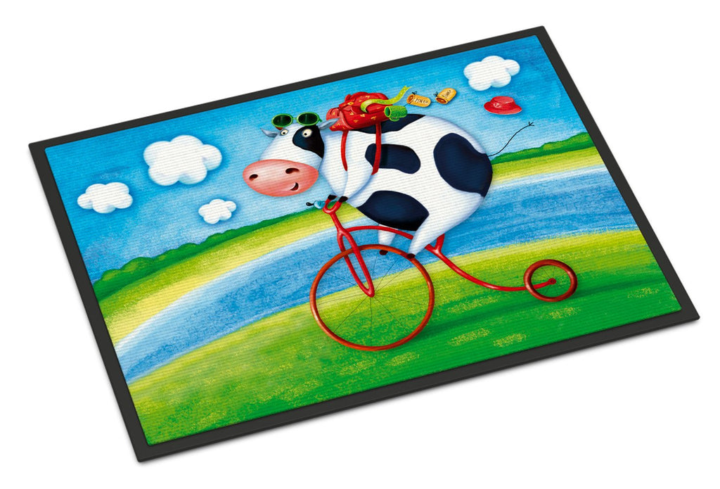 Buy this Cow riding Bicycle Indoor or Outdoor Mat 18x27 APH0076MAT
