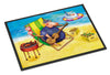 Buy this Pig Sunbathing on the Beach Indoor or Outdoor Mat 18x27 APH0079MAT