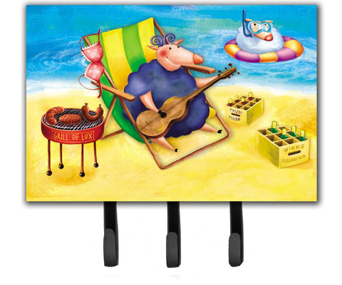 Buy this Pig Sunbathing on the Beach Leash or Key Holder APH0079TH68