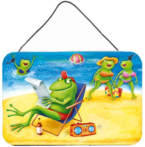 Buy this Frogs on the Beach Wall or Door Hanging Prints APH0080DS812