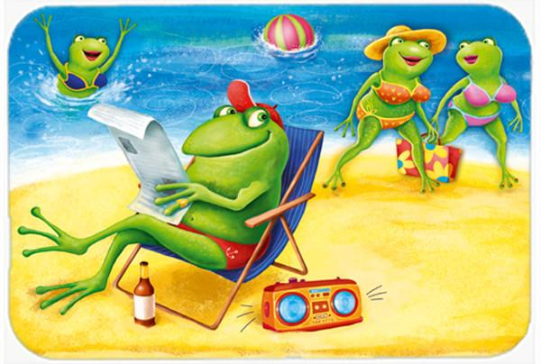 Buy this Frogs on the Beach Glass Cutting Board Large APH0080LCB