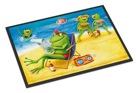 Buy this Frogs on the Beach Indoor or Outdoor Mat 18x27 APH0080MAT