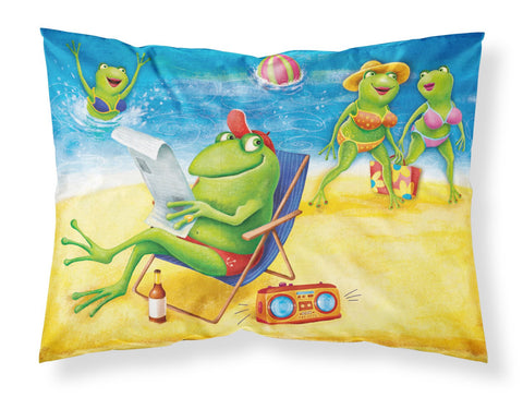 Buy this Frogs on the Beach Fabric Standard Pillowcase APH0080PILLOWCASE