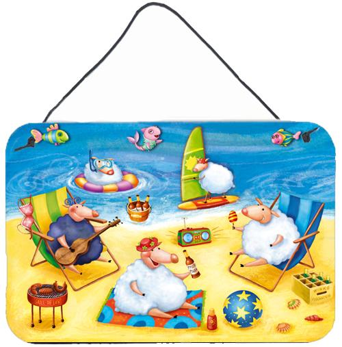 Party Pigs on the Beach Wall or Door Hanging Prints by Caroline's Treasures