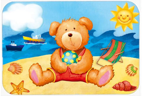 Buy this Teddy Bear on the Beach Glass Cutting Board Large APH0088LCB