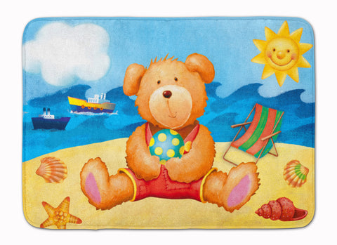 Buy this Teddy Bear on the Beach Machine Washable Memory Foam Mat APH0088RUG