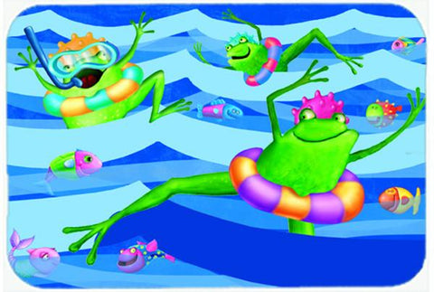 Buy this Frogs Swimming Glass Cutting Board Large APH0089LCB