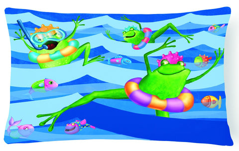 Buy this Frogs Swimming Fabric Decorative Pillow APH0089PW1216