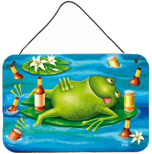 Buy this Frog Drinking Beer Wall or Door Hanging Prints APH0093DS812