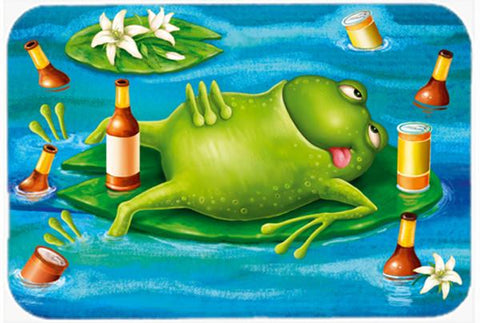 Buy this Frog Drinking Beer Glass Cutting Board Large APH0093LCB
