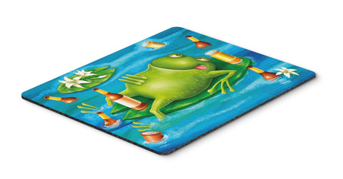 Buy this Frog Drinking Beer Mouse Pad, Hot Pad or Trivet APH0093MP