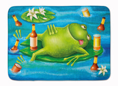 Buy this Frog Drinking Beer Machine Washable Memory Foam Mat APH0093RUG