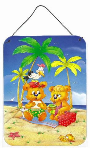Buy this Teddy Bears Picnic on the Beach Wall or Door Hanging Prints APH0239DS1216