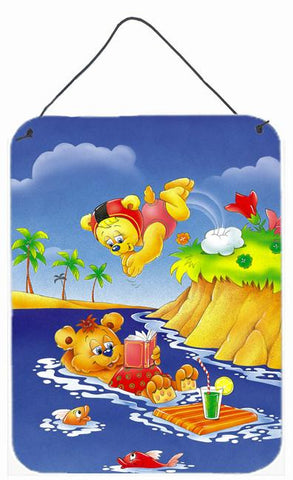 Buy this Teddy Bears Swimming and Diving Wall or Door Hanging Prints APH0240DS1216