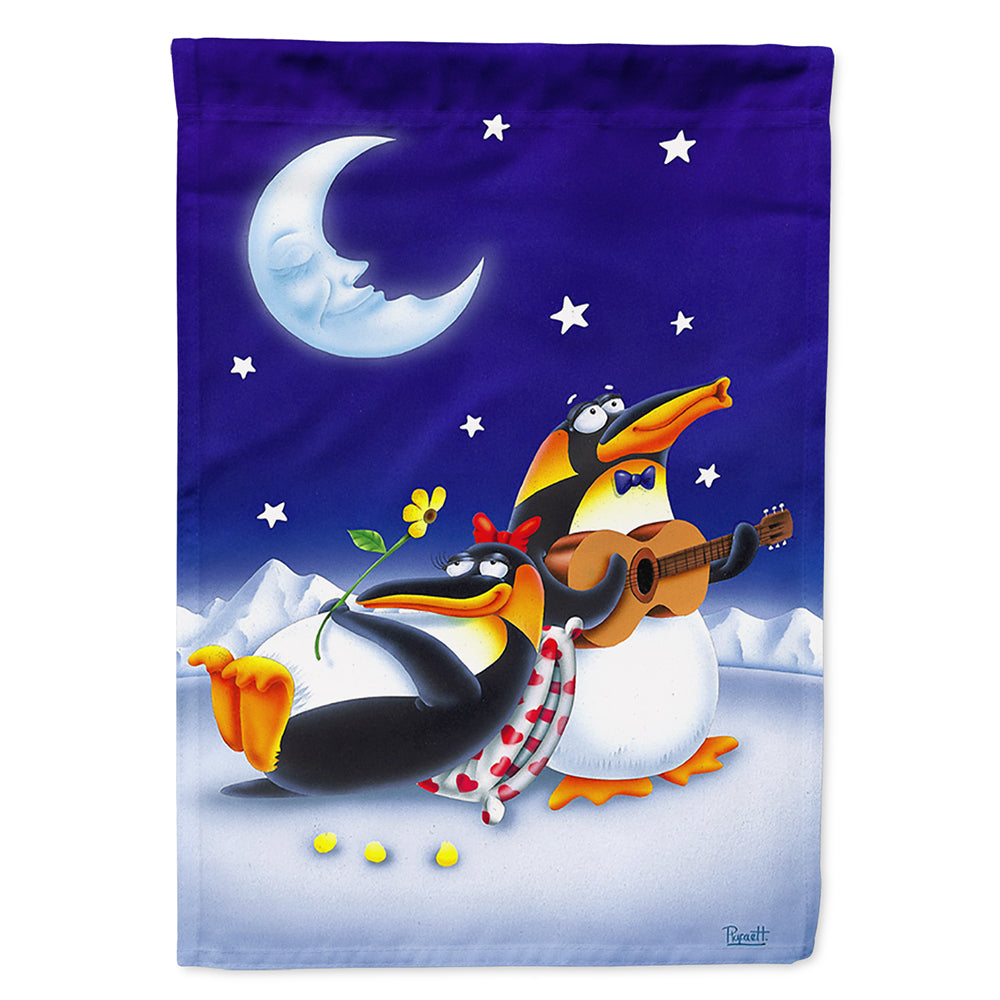 Buy this Music under the Moon Penguins Flag Canvas House Size
