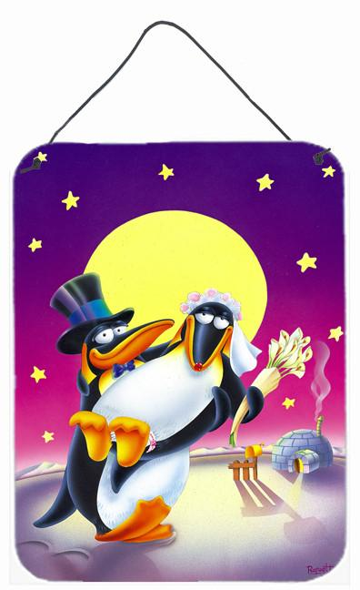 Buy this Just Married Wedding Penguins Wall or Door Hanging Prints APH0244DS1216